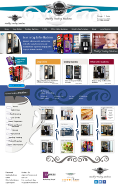 "Purevend ""healthy vending machines"" Complete Web Design Solution  Draft # 29 by Pavel"