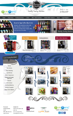 "Purevend ""healthy vending machines"" Complete Web Design Solution  Draft # 34 by Pavel"