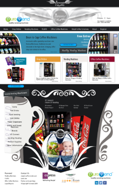 "Purevend ""healthy vending machines"" Complete Web Design Solution  Draft # 35 by Pavel"
