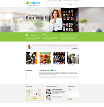 "Purevend ""healthy vending machines"" Complete Web Design Solution  Draft # 36 by vishal83"