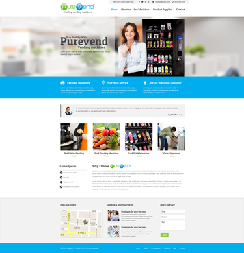 "Purevend ""healthy vending machines"" Complete Web Design Solution  Draft # 37 by vishal83"