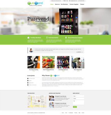 "Purevend ""healthy vending machines"" Complete Web Design Solution  Draft # 38 by vishal83"