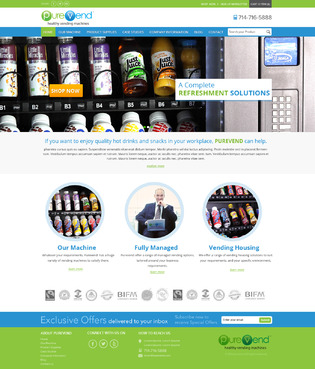 "Purevend ""healthy vending machines"" Complete Web Design Solution  Draft # 39 by suryaparkash"