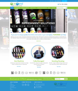 "Purevend ""healthy vending machines"" Complete Web Design Solution  Draft # 40 by suryaparkash"