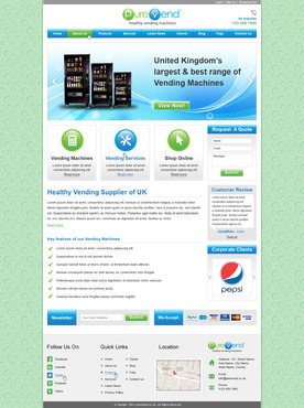 "Purevend ""healthy vending machines"" Complete Web Design Solution  Draft # 52 by prismitsolutions"
