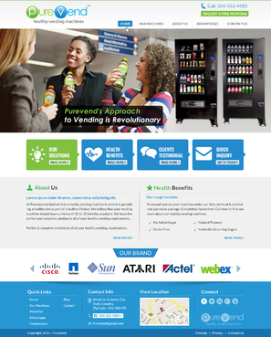 "Purevend ""healthy vending machines"" Complete Web Design Solution Winning Design by jogdesigner"