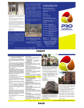 Pro group remedial Marketing collateral  Draft # 7 by jestony