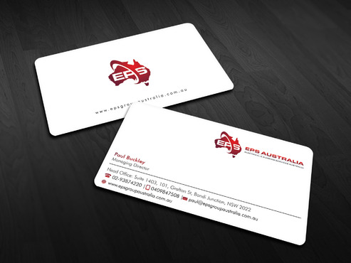 EPS Group Australia Business Cards and Stationery  Draft # 4 by Xpert