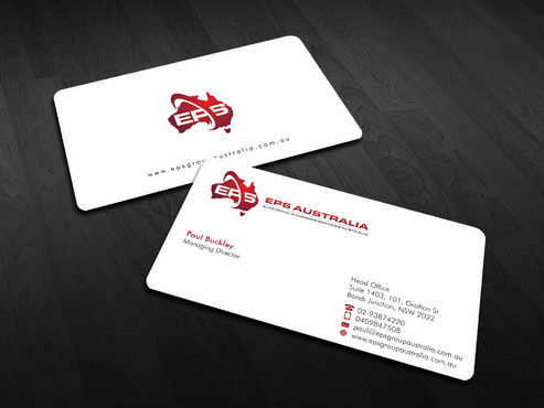 EPS Group Australia Business Cards and Stationery  Draft # 5 by Xpert