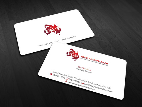 EPS Group Australia Business Cards and Stationery  Draft # 6 by Xpert