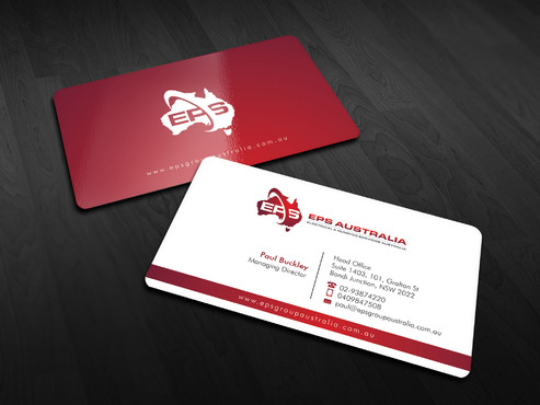 EPS Group Australia Business Cards and Stationery  Draft # 8 by Xpert