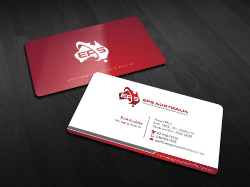 EPS Group Australia Business Cards and Stationery  Draft # 9 by Xpert