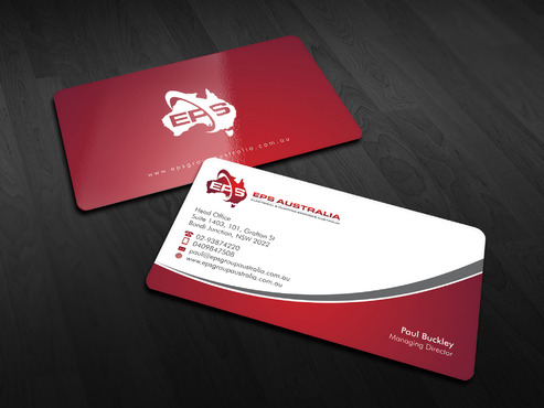 EPS Group Australia Business Cards and Stationery  Draft # 17 by Xpert