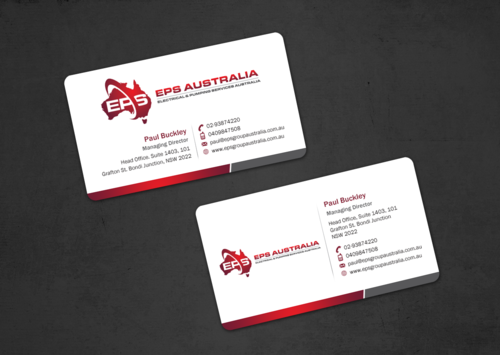 EPS Group Australia Business Cards and Stationery  Draft # 22 by einsanimation