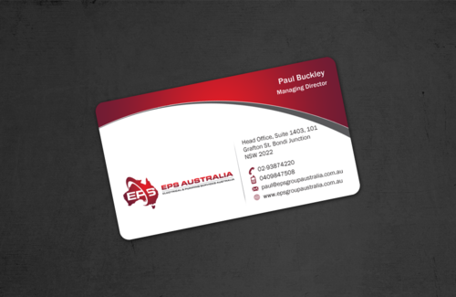 EPS Group Australia Business Cards and Stationery  Draft # 47 by einsanimation