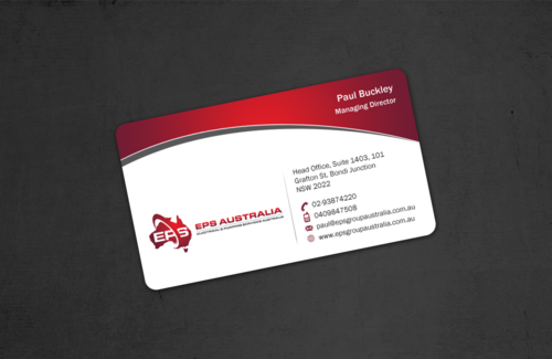 EPS Group Australia Business Cards and Stationery  Draft # 49 by einsanimation