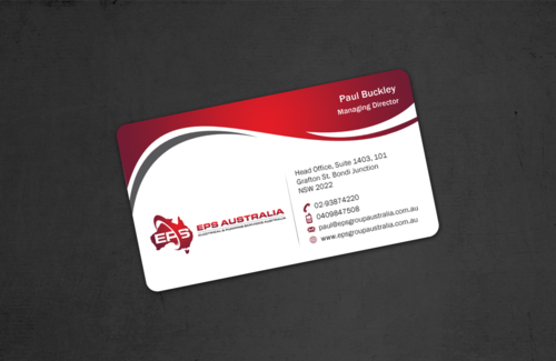 EPS Group Australia Business Cards and Stationery  Draft # 50 by einsanimation