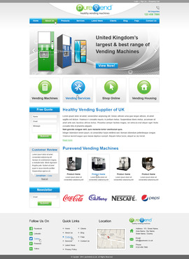 "Purevend ""healthy vending machines"" Complete Web Design Solution  Draft # 62 by prismitsolutions"