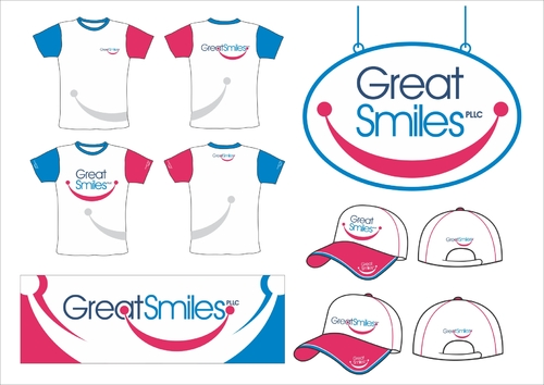 Great Smiles, PLLC Marketing collateral Winning Design by capt6blok