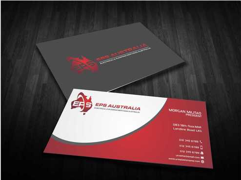 EPS Group Australia Business Cards and Stationery  Draft # 223 by Dawson