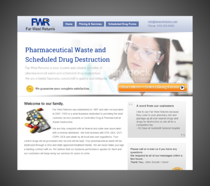 Scheduled Drug and Pharmaceutical Waste Destruction Marketing collateral  Draft # 8 by Kaiza