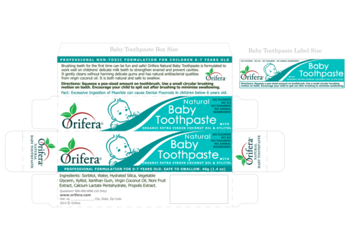 Natural Baby Toothpaste (0-7 years) & Maternity Toothpaste (for Pregnant and Breastfeeding Mothers)