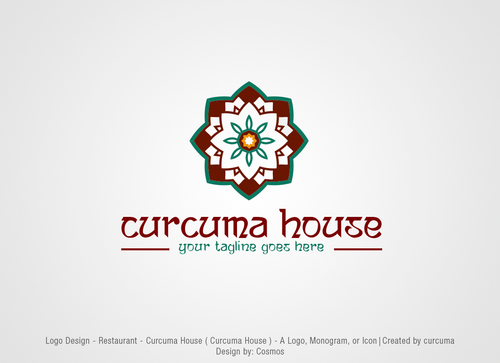 Curcuma House A Logo, Monogram, or Icon  Draft # 261 by Cosmos