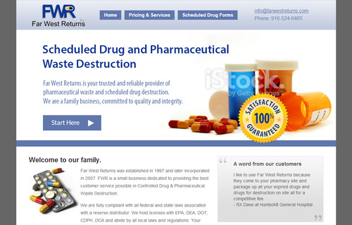 Scheduled Drug and Pharmaceutical Waste Destruction Marketing collateral  Draft # 29 by bikers
