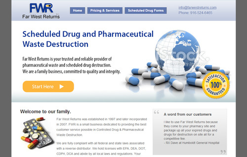 Scheduled Drug and Pharmaceutical Waste Destruction Marketing collateral  Draft # 39 by bikers