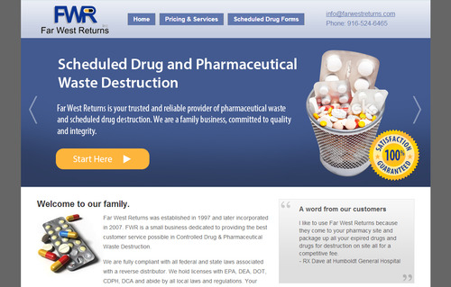 Scheduled Drug and Pharmaceutical Waste Destruction Marketing collateral Winning Design by bikers