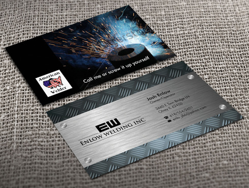 Enlow welding inc Business Cards and Stationery Winning Design by Xpert