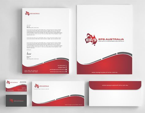 EPS Group Australia Business Cards and Stationery  Draft # 338 by Dawson