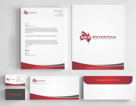 EPS Group Australia Business Cards and Stationery  Draft # 340 by Dawson