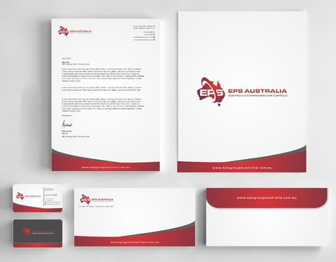 EPS Group Australia Business Cards and Stationery  Draft # 341 by Dawson