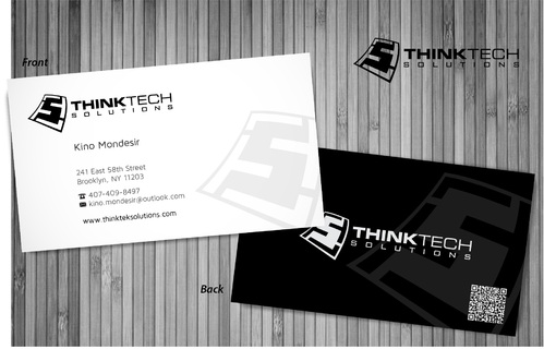 Think Tech Solutions Business Cards and Stationery  Draft # 7 by sevensky
