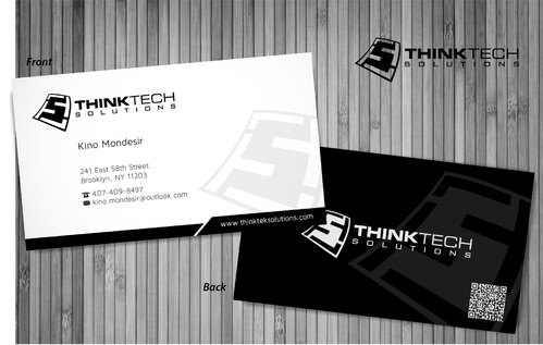 Think Tech Solutions Business Cards and Stationery  Draft # 9 by sevensky