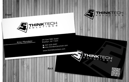 Think Tech Solutions Business Cards and Stationery  Draft # 12 by sevensky