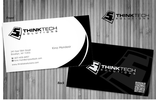 Think Tech Solutions Business Cards and Stationery  Draft # 14 by sevensky