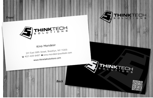 Think Tech Solutions Business Cards and Stationery  Draft # 15 by sevensky