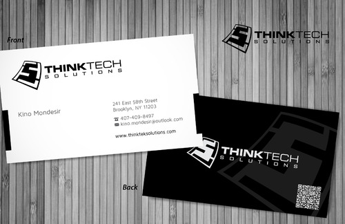 Think Tech Solutions Business Cards and Stationery  Draft # 16 by sevensky