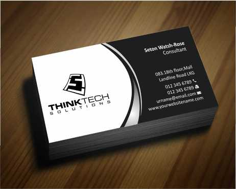 Think Tech Solutions Business Cards and Stationery  Draft # 236 by Dawson