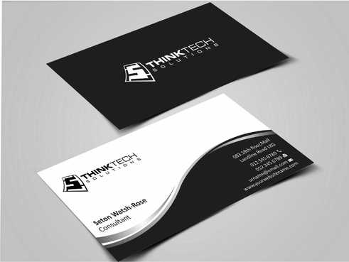 Think Tech Solutions Business Cards and Stationery  Draft # 238 by Dawson