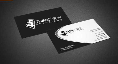 Think Tech Solutions Business Cards and Stationery  Draft # 241 by Dawson