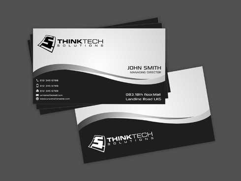 Think Tech Solutions Business Cards and Stationery  Draft # 243 by Dawson