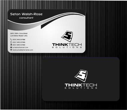 Think Tech Solutions Business Cards and Stationery  Draft # 244 by Dawson