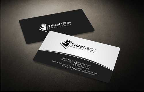 Think Tech Solutions Business Cards and Stationery  Draft # 246 by Dawson