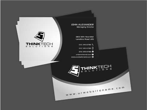 Think Tech Solutions Business Cards and Stationery  Draft # 249 by Dawson