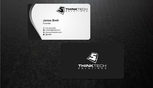 Think Tech Solutions Business Cards and Stationery  Draft # 251 by Dawson