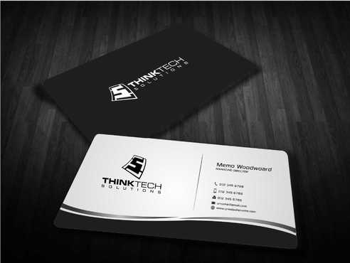 Think Tech Solutions Business Cards and Stationery  Draft # 252 by Dawson