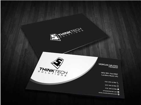 Think Tech Solutions Business Cards and Stationery  Draft # 254 by Dawson
